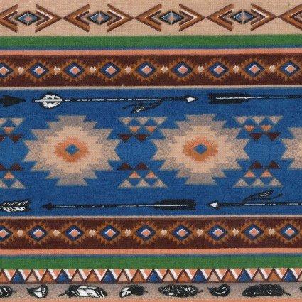 Flannel Prints - Southwest stripe navy