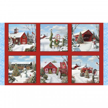 Tis the Season Panel 24in 13002-Red