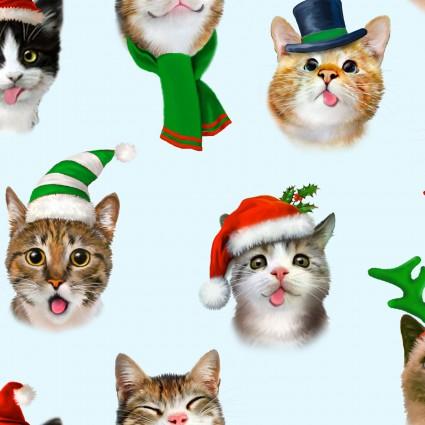 CHRISTMAS SELFIES KITTY CAT BLUE 1325 Elizabeths Studio