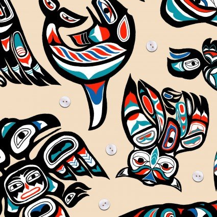 Elizabeth STudio Native Spirit 100% Cotton  42-44'WIde