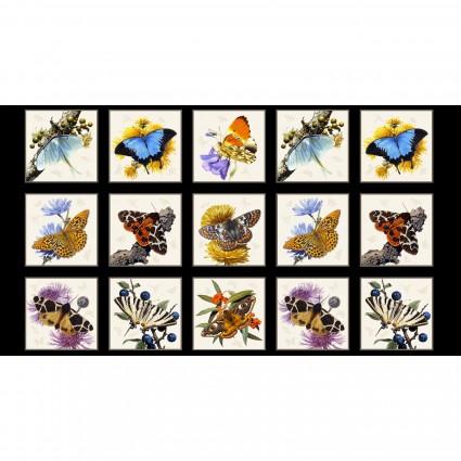 Butterflies & Moths<br>9800-Black - Panel