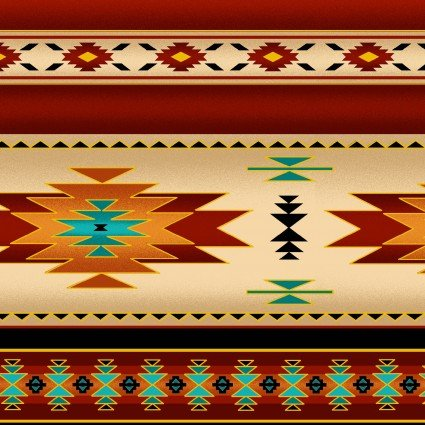 Tucson blanket stripe terracotta metallic
