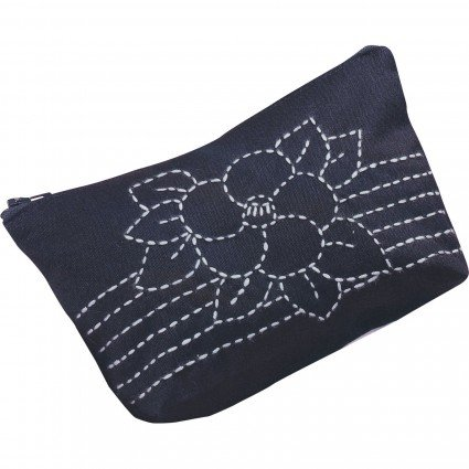 Sashiko Pouch Kit/Navy (EmmaCreation)