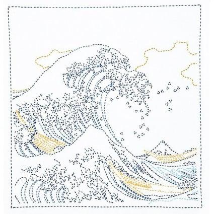 Sashiko Kit (Hokusai Katsushika) Great Waves Kit