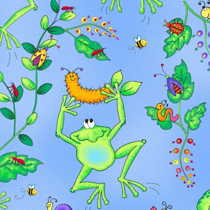 Spring Fling Frog Scenic