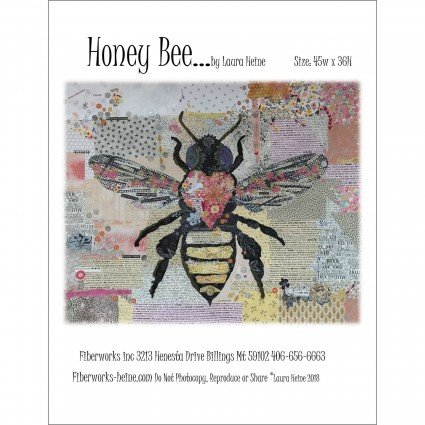HONEY BEE COLLAGE - PATTERN - FIBERWORKS