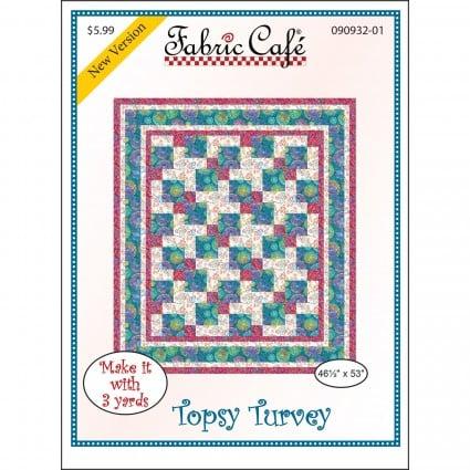 3-Yard Quilt Pattern - Tospy Turvy