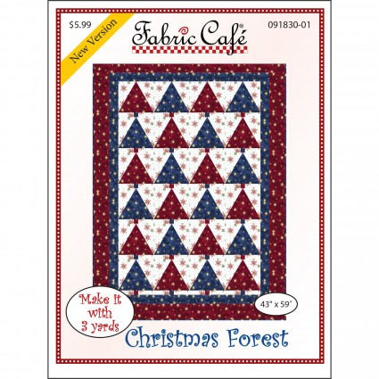 3-Yard Quilt Pattern - Christmas Forest