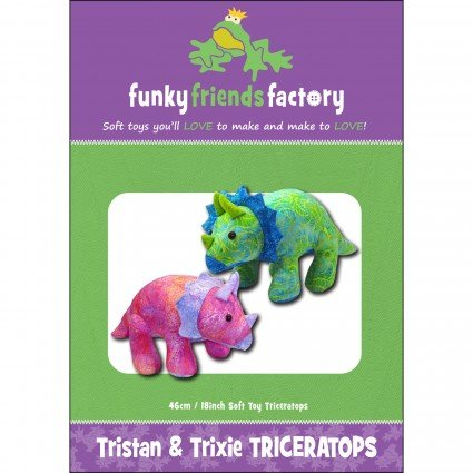 Funky Friends Factory Tristan & Trixie Triceratops Pattern