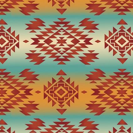 Southwest Corners - Tribal Mystic Teal/Orange