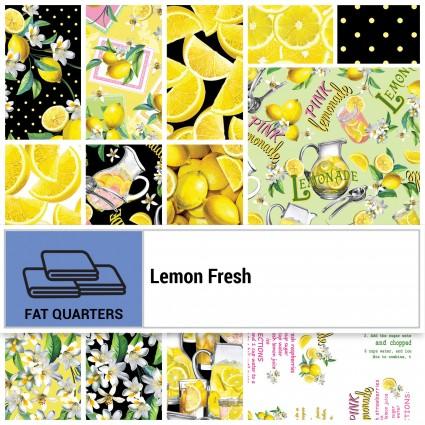 Lemon Fresh - Fat Quarter Bundle - Black