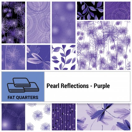 Pearl Reflections - Purple FQ Bundle