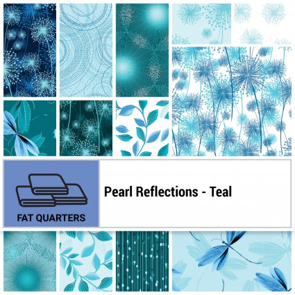 Pearl Reflections - Teal FQ Bundle