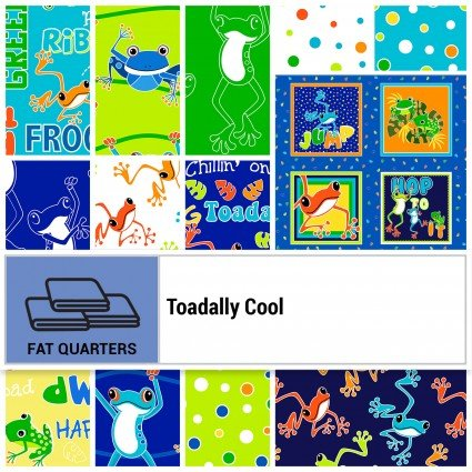 Toadally Cool Glow in the Dark - Fat Quarter Bundle