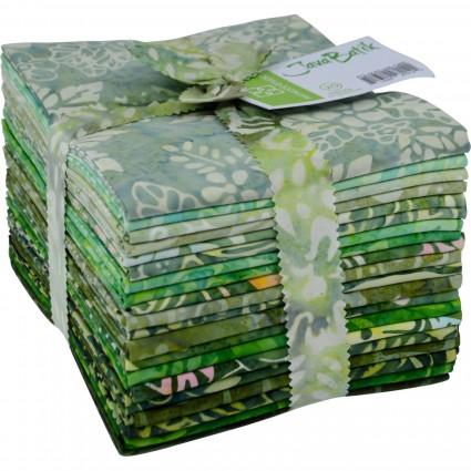 Java Batiks Green Fat Quarter Bundle