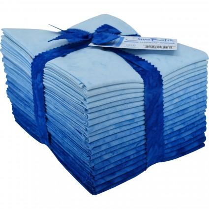 Java Batiks Blue Marbled Fat Quarter Bundle