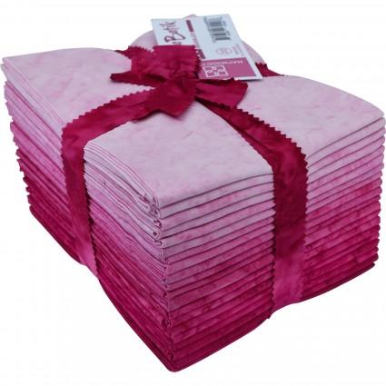 Java Batiks Pink Marbled Fat Quarter Bundle