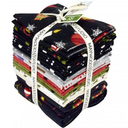Most Wonderful Time Flannel FQ Bundle
