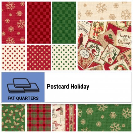 Postcard Holiday FQ Bundle 16pc