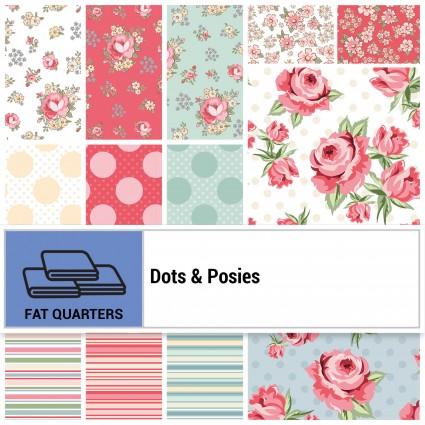 Dots & Posies Fat Quarter Bundle - 22 Pieces