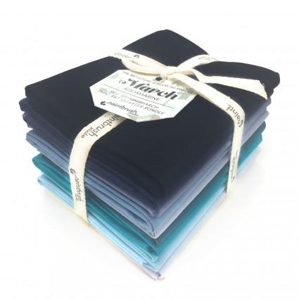 Fabric FQ Bundle Birthstones: March (Aquamarine)