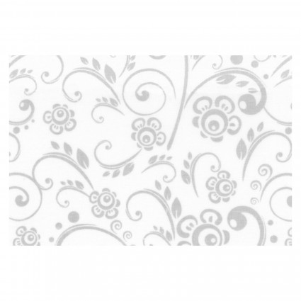 Galaxy 108 Contemporary Quilt Backs - Get Back! - White with Grey Floral GALCQB108W48496-GRW
