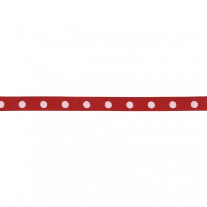 Dotted Ribbon - (White Dots Red Ribbon)