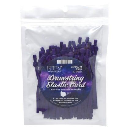 Drawstring Elastic Cord Purple
