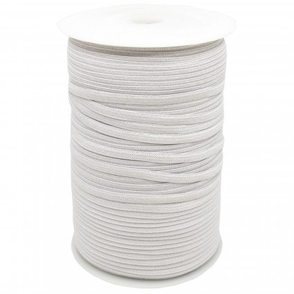 Braided Elastic white