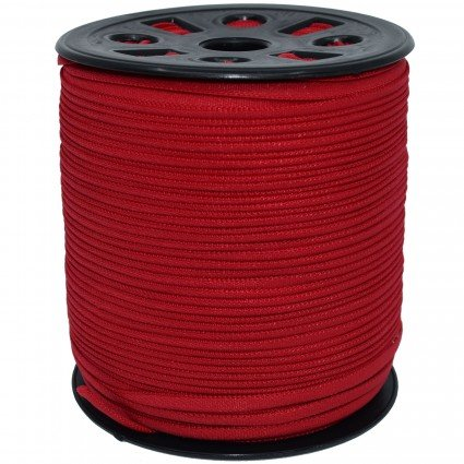 1/6 Banded stretch elastic, red
