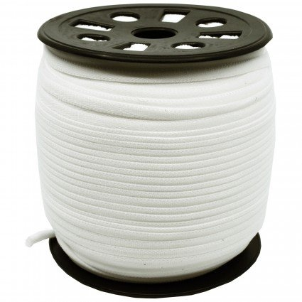Banded Stretch Elastic 1/6in  White