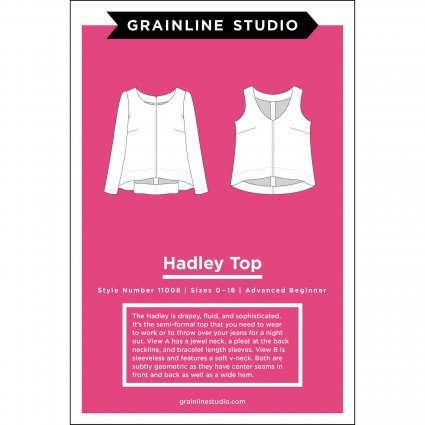 Hadley Top - Grainline Studio Printed Pattern
