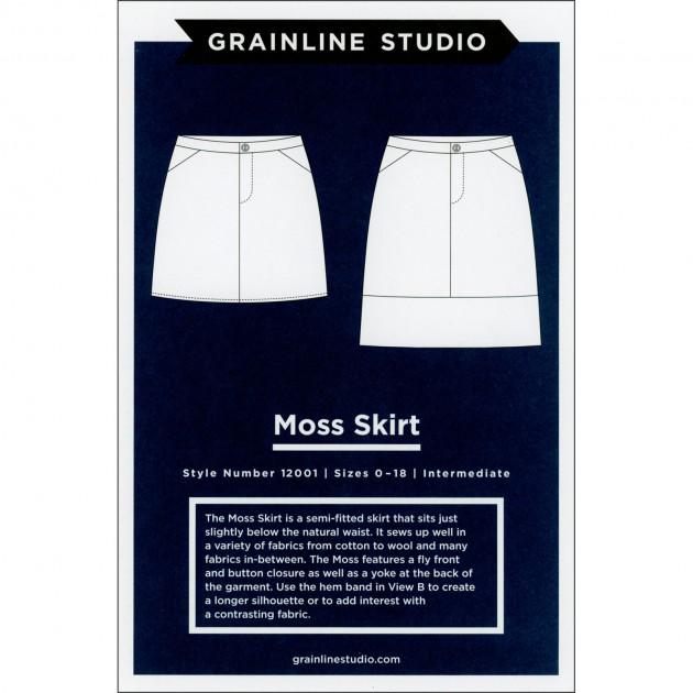 Moss Skirt - Grainline Studion Printed Pattern