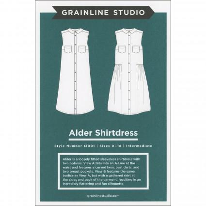 Alder Dress - Grainline Studio Printed Pattern