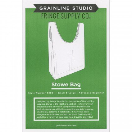 Stowe Bag - Grainline Studio Printed Pattern