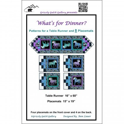 What's For Dinner? Pattern Table Runner & Placemats