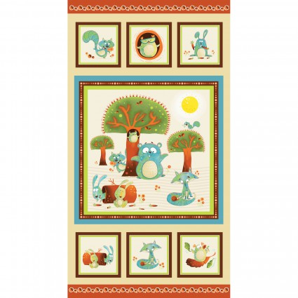 Woodsy Wonders Children's Fabric Panel 23.5 x 44 Inches
