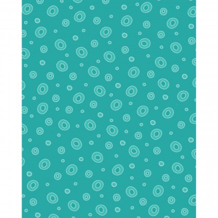 HENRY GLASS & CO. FROGLAND FRIENDS AQUA WITH CIRCLES HEG1058-61