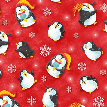 Penguin Parade  Red 1123