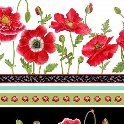 Poppy Perfection Border Print