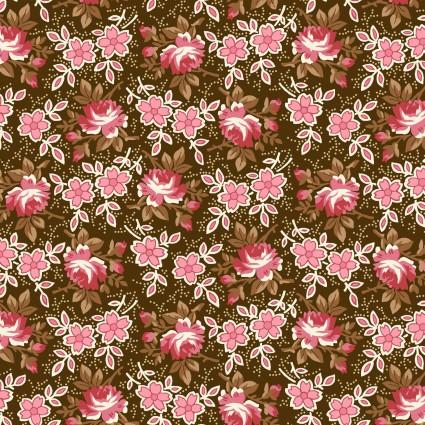 Windsor Park Brown Pink Roses