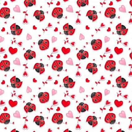 Love Struck - Ladybugs White/Red