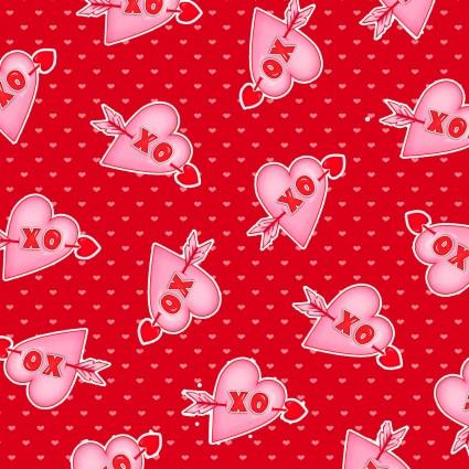 Love Struck - Hearts XO Red