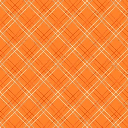 Cutie Tootie Orange Diagonal Plaid