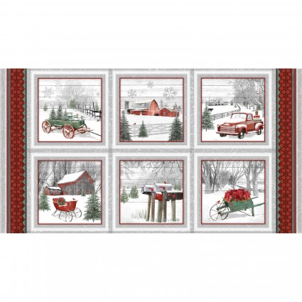 Holiday Homestead Blocks Panel