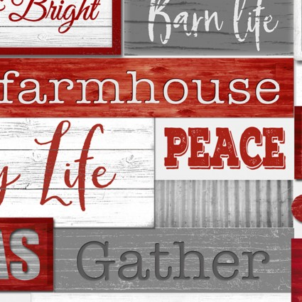 Holiday Homestead - Red & Grey Signs