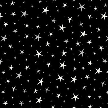 Hocus Pocus Tossed Stars Black