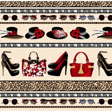 Shoe Love is True Love Border Print