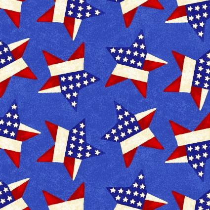 Land of the Free Tossed Stars Blue