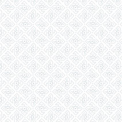 Quilter's Flour White on White Geometric